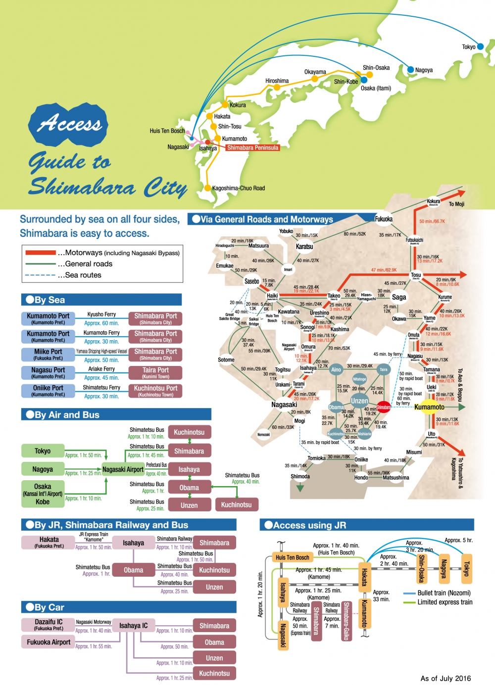 Access Guide to Shimabara City.